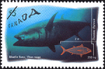 Canadian Postage Stamp (1997): Bluefin Tuna, Thunnus thynnus