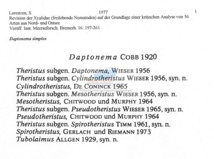 Daptonema simplex