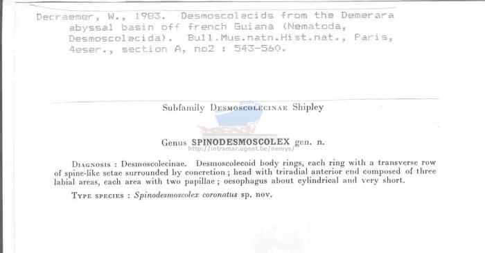 Spinodesmoscolex