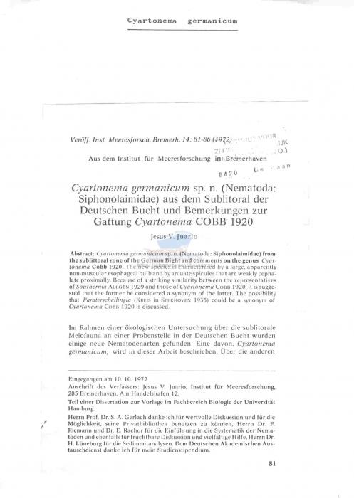Cyartonema germanicum